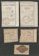 23 - Merinchal ( Creuse )  :  Lot De 4 Recepisses Avec Cachet  1950 , 1952 , 1953 + Decalcomanie Henri Ventenat - France