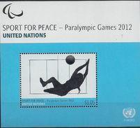 2012 UNO NEW YORK   MI. Bl 37  **MNH  . Paralympische Sommerspiele, London. - New York -  VN Hauptquartier