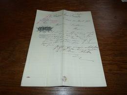Document Commercial Facture Fabrique De Vinaigre De Vin Orléans 1901 Breton Ainé & Gendre Vins Spiritueux - Belgique