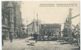 Brussel - Bruxelles - Exposition - Kermesse - L'Incendie 14-15 Août 1910 - Vue Vers La Place Du Marché - Ed. Valentine - Expositions Universelles