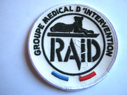 ECUSSON TISSUS PATCH POLICE NATIONALE LE RAID GROUPE MEDICAL D'INTERVENTION ETAT EXCELLENT - Police & Gendarmerie