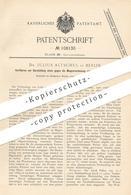 Original Patent - Dr. Julius Altschul , Berlin , 1898 , Resistenter Leimtannat Gegen Magenverdauung   Medizin   Leim !!! - Documents Historiques