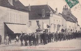 SAULIEU          1 ER CONGRES CANTONAL DE LA JEUNE CATHOLIQUE . 14 JUIN 1908.  LE DEFILE - Saulieu
