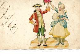 Chromos 1909 Sur Carte Roi Et Reine - Autres Collections