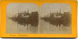 Photos Stéréoscopiques - Paris - Canal  Saint  Martin ( A 99 ) - Photos Stéréoscopiques