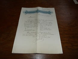Document Commercial Facture Brummerstaedt & Groh Bruxelles 1900 - Belgique