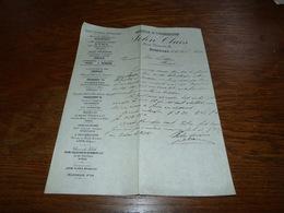 Document Commercial Facture Agence Et Commission John Claes Bruxelles 1899 Agent Céruse Jenart Lagae Heule - Belgique