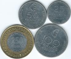 Comoros - 2013 - 25, 50, 100 & 250 Francs (KMs 14a, 16a, 18a & 21) - Comores