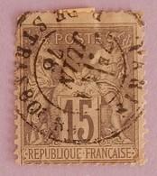 FRANCE TYPE SAGE YT 77 CAD STASBOURG JUIN 78 - 1876-1898 Sage (Type II)