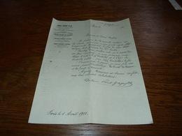 Document Commercial Facture Paul Gage & Fils Paris 1901 - Belgique