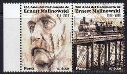 Peru 2018 Engineer Ernest Malinowski Bridge Train 2v MNH - Trains