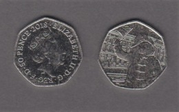 Great Britain UK 50p Coin 2018 Paddington At Buckingham Palace - Brilliant Uncirculated BU - 1971-… : Monnaies Décimales