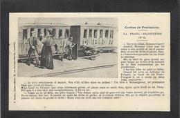 CPA Franc Maçonnerie Maçonnique Masonic Franc Maçon Satirique Caricature Non Circulé - Philosophie & Pensées