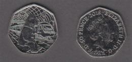 Great Britain UK 50p Coin 2018 Paddington At The Station - Brilliant Uncirculated BU - 1971-… : Monnaies Décimales