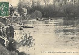 Nogent Sur Marne Pécheurs Bords De Marne  Barques - Nogent Sur Marne