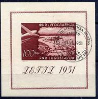 YUGOSLAVIA 1951 ZEFIZ Exhibition Block Used.  Michel Block 5 - Blocks & Sheetlets