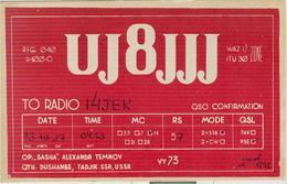 Dushambe (Dušanbe)- Tagikistan-RADIO AMATORIALE- 27 OTTOBRE 1973 - - Radio Amatoriale