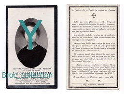 Halluin, Mémento De Léonie Stubts, épouse De Vincent Verroye, 12/11/1892 - 2/03/1933, Souvenir Mortuaire - Images Religieuses