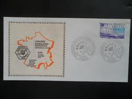 YT 2048 Sur Enveloppe Obl Congrès Fédération Nationale PARIS 7 Et 8 NOV 1979 - Marcophilie (Lettres)