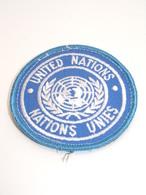 "Ecusson Militaire Tissu/Patch - ""UNITED NATIONS"" - ""NATIONS UNIS""- Military Badges P.V. - Ecussons Tissu"