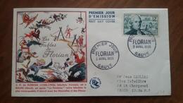 Premier Jour  FDC..  FLORIAN .. 1955 ..   Les  Fables De La Fontaine .. SAUVE - FDC