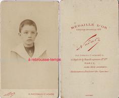 CDV Jeune Garçon Ancre Marine-photo Nadar - Photographs