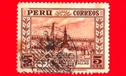 PERU - Usato - 1936 - Centenario Della Fondazione Della Provincia Di Callao - Piazza Indipendenza - 5 - Pérou