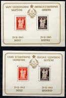 YUGOSLAVIA 1945 Declaration Of Peoples Republic Blocks MNH / **.  Michel Block 3 I-II - Blocks & Sheetlets