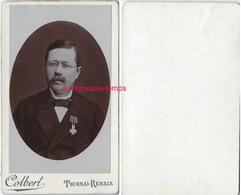 CDV-Belgique-portrait D'un Homme Médaillé- Photo Colbert à Tournai-Renaix - Photos