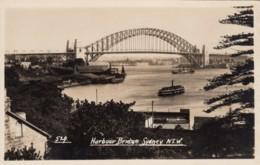 Sydney NSW Australia, Harbour Bridge, Architecture, C1920s/30s Vintage Real Photo Postcard - Sydney