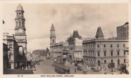 Adelaide SA Australia, King William Street Scene, Street Car, Architecture, C1930s Vintage Real Photo Postcard - Adelaide