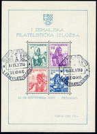 YUGOSLAVIA 1937 Philatelic Exhibition Block Used.  Michel Block 1 - Blocs-feuillets