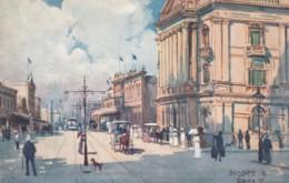 Brisbane Australia, Queen Street Scene, Fashion, Fullwood Artist Signed Image, C1900s/10s Vintage Tuck #7354 Postcard - Brisbane