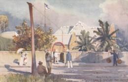 Port Darwin Australia, Cable Station, Fullwood Artist Signed Image, C1900s Vintage Tuck #7356 Postcard - Australia