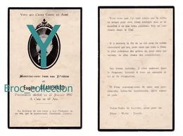 Gigny-sur-Saône, Sennecey-le-Grand, Mémento Eugène Blanchard, époux De Philiberte Decouche, 27/07/1937 - Images Religieuses