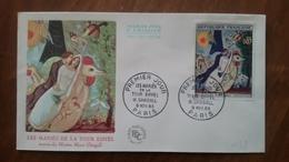 Premier Jour  FDC.. LES MARIES  DE  LA  TOUR  EIFFEL ..M . CHAGALL  1963. .PARIS - Other