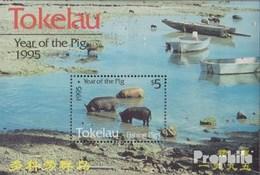 Tokelau Block4 (kompl.Ausg.) Postfrisch 1995 Chinesisches Neujahr - Tokelau