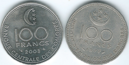 Comoros - 1977 - 100 Francs (KM13) & 2003 (KM18) - Comores