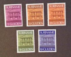 Suriname - Zbl.nrs. 7 T/m 11 (1975) Postfris - Suriname