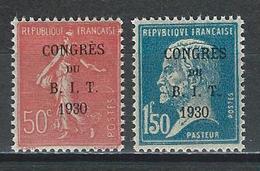 Frankreich Yv 264-65, Mi 249-50  *  MH - Frankreich