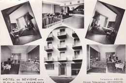 HOTEL SEVIGNE. CASABLANCA. ADVERTISING MULTIVUE. PHOTO FLANDRIN CIRCA 1942 RARE! - BLEUP - Hotel- & Gaststättengewerbe