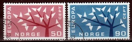 Noorwegen Mi 476,477 Europa Cept 1962 Gestempeld Fine Used - Noorwegen