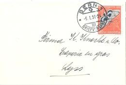Neujahrsbrieflein  Bern - Lyss           1951 - Schweiz