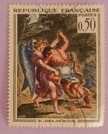 """FRANCE YT 1376 OBLITERE """"TABLEAU DE DELACROIX"""" ANNEE 1963 - Frankreich"""