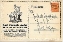 Publicite De Gotha 1922 Sur Carte Postal - Deutschland