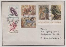 JOUGOSLAVIA REGISTERED MICHEL 1262, 1264, 1369/74 MOSSAIKKUNST & OLYMPIC GRENOBLE - 1945-1992 Socialist Federal Republic Of Yugoslavia