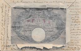 Superbe Cpa - CINQUANTE FRANCS - BANQUE DE FRANCE - Banques
