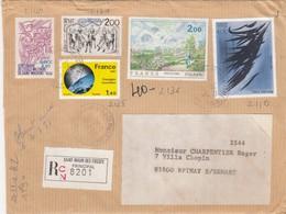 LETTRE RECOMMANDÉ. ST MAUR DES FOSSES  /  3 - Poststempel (Briefe)