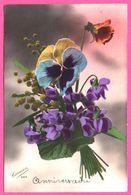 Bouquet De Fleurs - Pensée - Violettes - CARMEN - Blumen