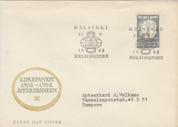 FINLAND 1962 FDC Affärsbanken.BARGAIN.!! - Finland